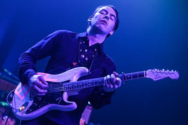 Dhani Harrison performs at Fleetwood Mac Fest at The Fonda on Tuesday, Feb. 9, 2016, in Los Angeles. (Rich Fury/Invision/AP)