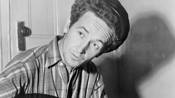 The American Folklife Center's collections include recordings of Woody Guthrie, taken at the Library of Congress.
