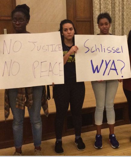 U of M students protest racist messages on campus