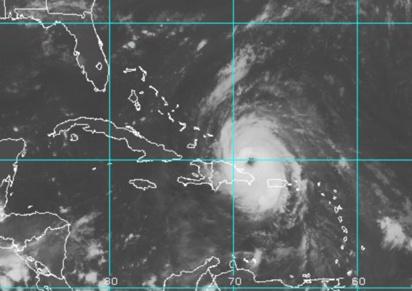 An image of Hurricane Maria on Thursday, Sept. 21, 2017.