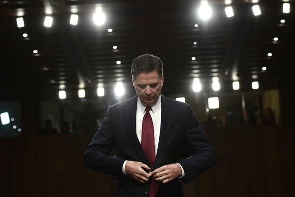 Former FBI Director James Comey testifies during a Senate Intelligence Committee on hearing on Capitol Hill in Washington, D.C., on June 8, 2017.