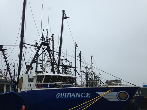 Fishing boats docked in New Bedford.