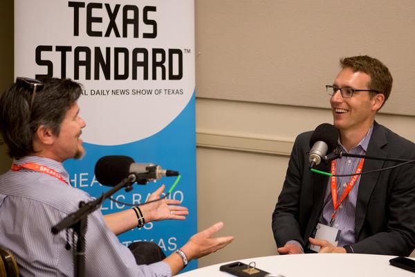 Texas Standard Host David Brown talks with David Fahrenthold at the 2017 Texas Tribune Festival.