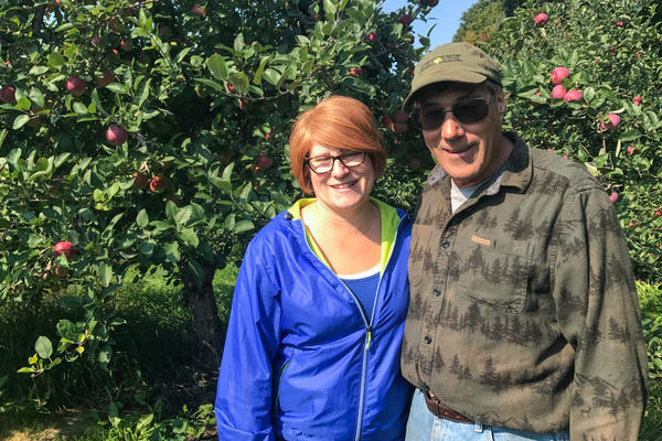 """Farm manager Heatherlyn Johnson Reamer is pictured with her father, Dean Johnson, who owns Johnson Farms. Without migrant workers to pick the crops, Reamer says, """"there wouldn't be food. It's just as simple as that."""""""