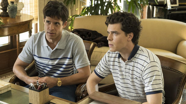 Miles Gaston Villanueva as Lyle Menendez and Gus Halper as Eric Menendez in <em>Law & Order True Crime - The Menendez Murders</em>.