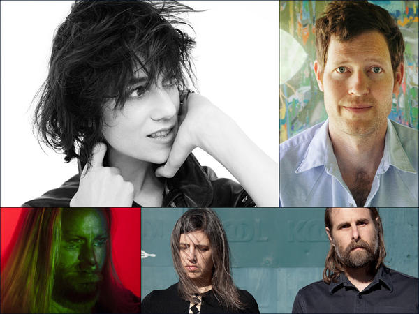 Clockwise from upper left: Charlotte Gainsbourg, Chad VanGaalen, Lean Year, Högni