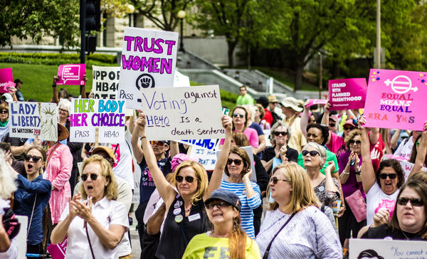 The Illinois Women March on Springfield was held on April 25, 2017 at the state Capitol. Those in attendance wanted to raise awareness of women's rights and demand support for HB 40--which was up for a vote on the House floor on the same day.