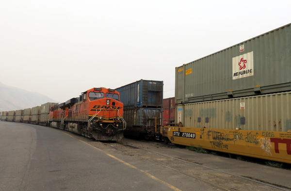 Ninety-nine percent of the trash buried at Roosevelt Regional Landfill arrives by train.