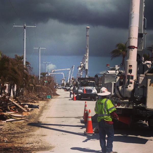 The transmission line from the mainland was re-energized on Sept. 12, three days after the Keys lost power during Hurricane Irma.
