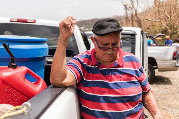 "Luis Alberio traveled a half-hour to collect spring water from a pipe sticking out of the ground. He needs water ""for everything ... to drink, to bathe, to wash up, to clean the house."""
