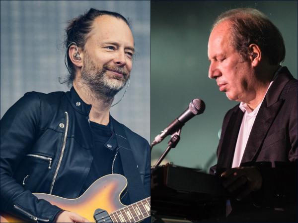 Radiohead's Thom Yorke at left and composer Hans Zimmer