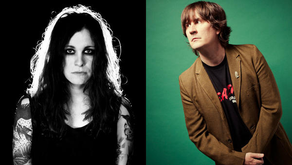 Laura Jane Grace (left) is one of 14 artists covering The Mountain Goats' <em>All Hail West Texas</em> track-by-track.