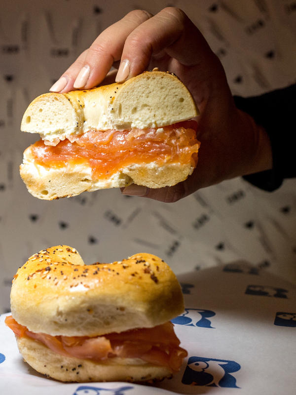 """Bagels and lox from New York-based """"appetizing shop"""" Russ & Daughters. """"Especially when people aren't engaging in other parts of the practice, bagels and lox get elevated to something ritually symbolic. It's a lot of power to put on a bagel,"""" says Leah Koenig, author of <em>Little Book of Jewish Appetizers</em>."""