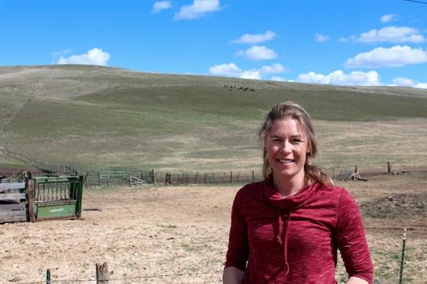 <p>Kelly Birkmaier, Wallowa County rancher, at her property outside Enterprise, Oregon. </p>