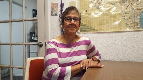 Judy Lugo, president of the Texas State Employees Union, said a state hiring freeze hurt people trying to get help after Hurricane Harvey.