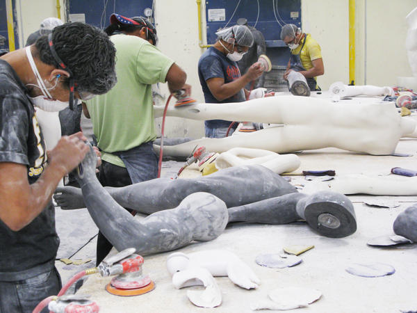 Workers at a <em>maquiladora</em> assembly plant in Juarez, across the border from El Paso, Texas, make mannequins. While other parts of Mexico are moving slowly out of the recent recession, the <em>maquiladoras</em> have been rapidly adding jobs and boosting exports to record levels.