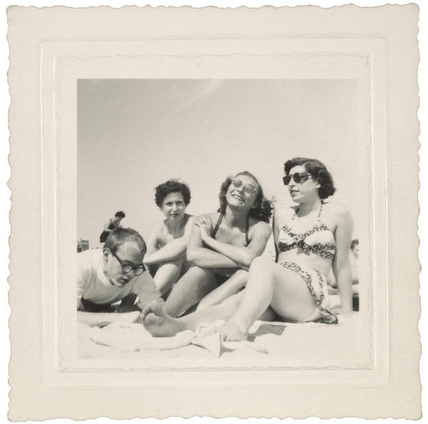 Andy Warhol and friends on the beach