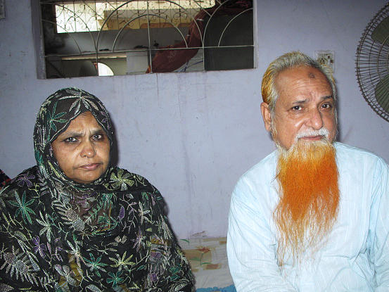 Zareena Begum and Malik Gulzar recently lost their son, Malik Irfan, 28, to the violence. They are part of the Muhajir community in Karachi, and much of the fighting has involved Muhajirs and members of the Baloch community.