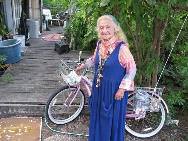 Jean Brady Hendricks, 88, is happy in the batture. After living in New Orleans for most of her life, the former torch singer moved to the community about three years ago.
