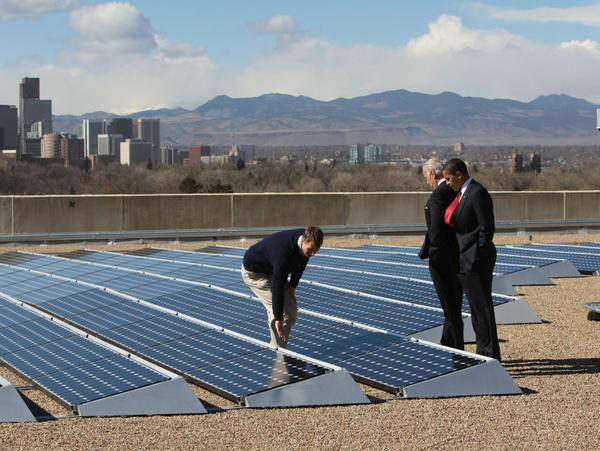 "On Feb. 17, 2009, the same day President Obama signed the first economic stimulus bill, Namaste Solar CEO Blake Jones gave Obama and Vice President Biden a tour of the solar panel installation at the Denver Museum of Nature and Science. In the 2 1/2 years since, says Jones, the stimulus ""did what it was supposed to do"" in the solar sector. Still, he has had to lay off some workers."