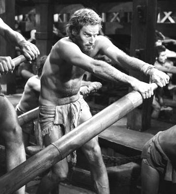 This image provided by Cinecitta studio's in Rome shows Charlton Heston in a scene from the movie <em>Ben-Hur</em> being shot in 1958.