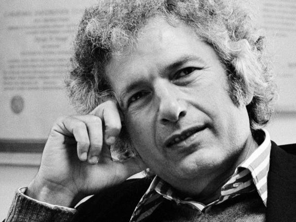<p>Joseph Heller, pictured above in October 1974, based <em>Catch-22 </em>on his own experiences as a bombardier in <em>World War II.</em> Heller died in 1999 at age 76.</p>