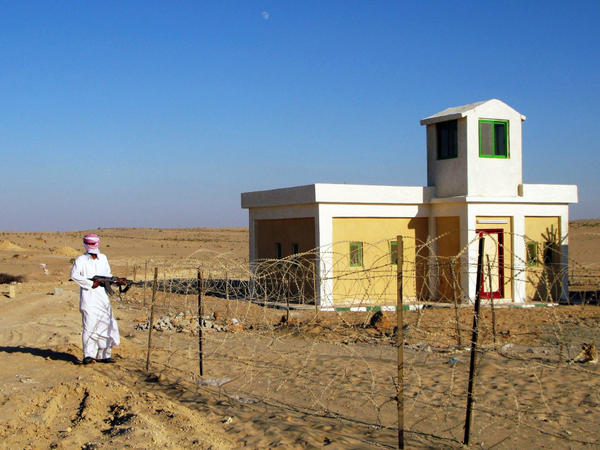 <p> Ali Madaan, 45, is one of the Bedouin guards protecting the al-Midan station in Egypt's northern Sinai. The natural gas pipeline there has come under repeated attacks.</p>