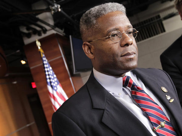 <p>Rep. Allen West, R-Fla., shown in July, has drawn controversy for his comments about Islam. A Muslim activist in South Florida has devoted himself to challenging West's views.</p>