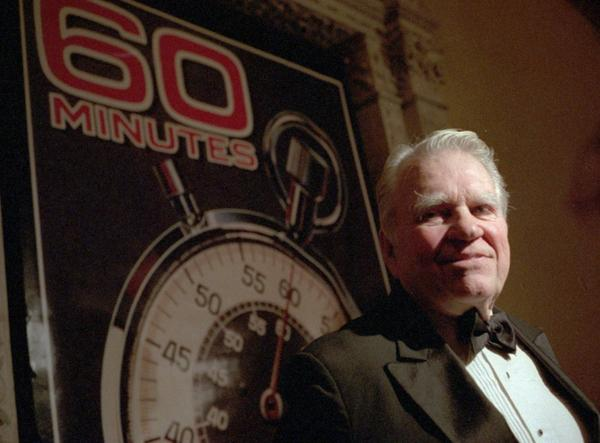 <p>Andy Rooney, commentator for CBS's <em>60 Minutes,</em> speaks at the program's 25th-anniversary party, held at the Metropolitan Museum of Art in New York on Nov. 10, 1993.</p>