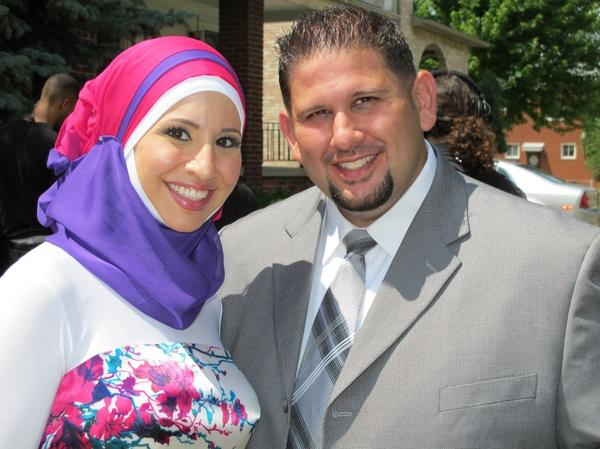 Sister and brother Suehaila and Bilal at the marriage of their sister Shadia to her new husband Jeff, on the premiere episode of TLC's unscripted series <em>All-American Muslim</em>.