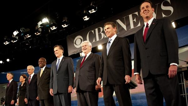 Republican presidential hopefuls participate in the South Carolina presidential debate at Wofford College on Saturday. It was the first debate of the season focused on foreign policy.