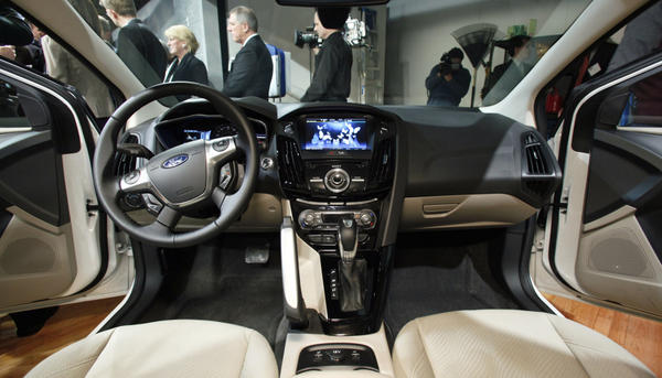 Ford's MyFord Touch interface allows users to manage phone calls, navigation, entertainment and the car's temperature through a touch screen on the dashboard.
