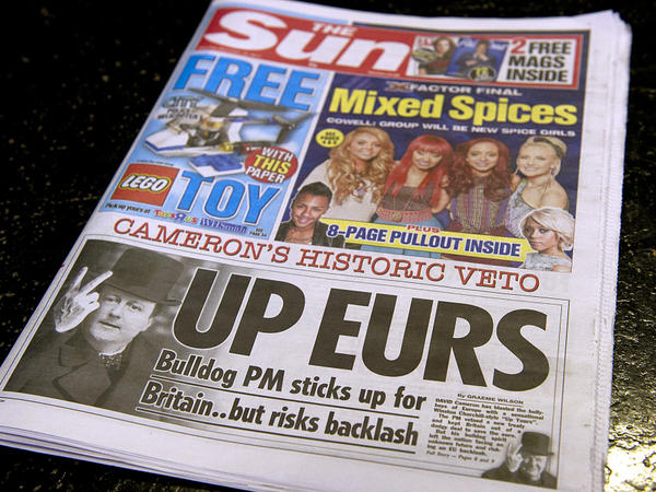 British tabloids such as <em>The Sun</em> are known for being brash, cheeky and salacious.