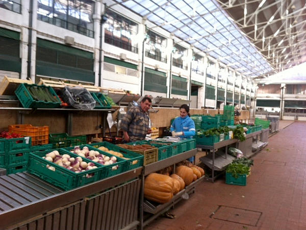 A once-bustling vegetable market in Lisbon is now beyond the reach of many Portuguese — a sign of their country's economic problems.