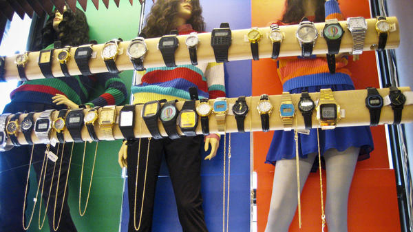 Even as more people rely on cellphones to tell time, retailer American Apparel has found that novelty watches are selling well.