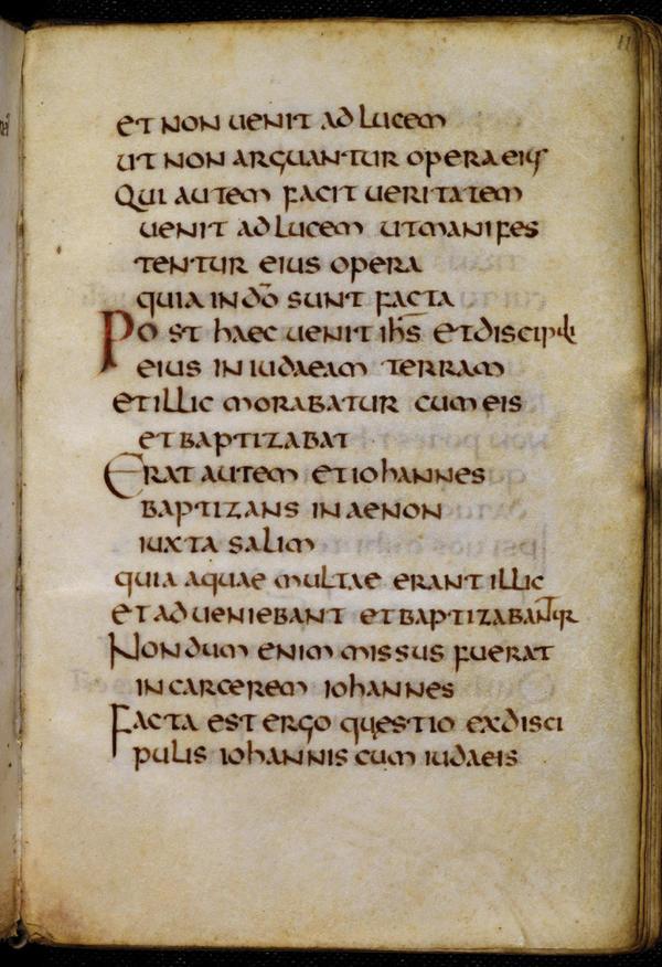 The manuscript is a copy of the Gospel of St. John.