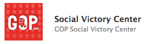 "An image from the Republican National Committee's Facebook page advertises its new ""Social Victory Center"" app."