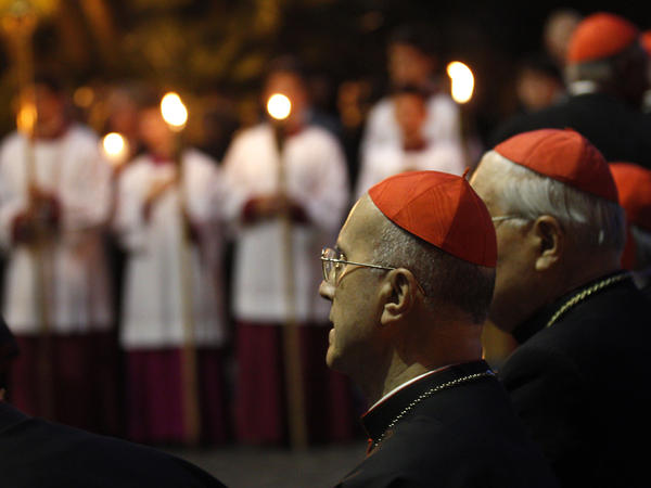 Cardinal Tarcisio Bertone (shown here May 31 at the Vatican gardens) is Pope Benedict's hand-picked deputy. Vatican watchers say it was Bertone's sacking of a top administrator who denounced corruption inside the Holy See that triggered the documents leak.