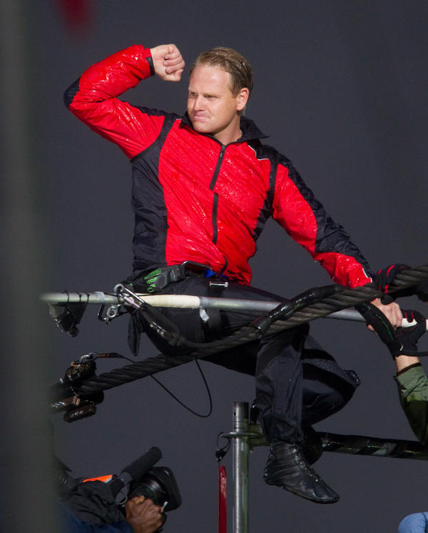 Wallenda crossed Niagara Falls in under 30 minutes on a 2-inch-thick wire.