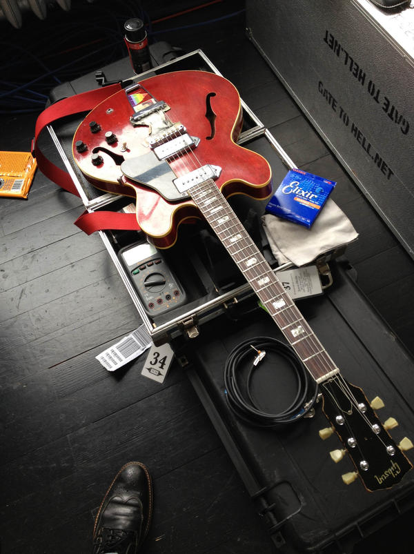 <strong>A Tech's Nemesis: </strong>Jack Antonoff's 1968 Gibson ES-330 electric guitar.