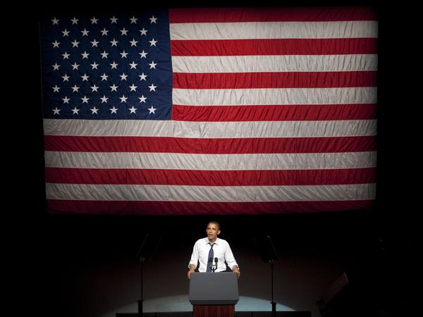 President Obama speaks at the Fox Theater in Oakland, Calif., on Monday.