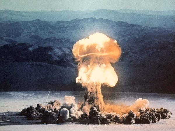The Priscilla event, part of Operation Plumbbob conducted at the Nevada Test Site in 1957, was a 37-kiloton device exploded from a balloon.