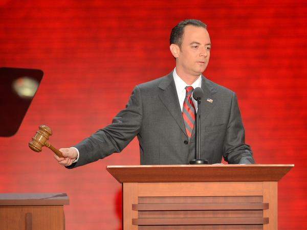 "Reince Priebus, shown at the Republican National Convention in August, says Republicans need to ""grow our party without compromising our principles."""