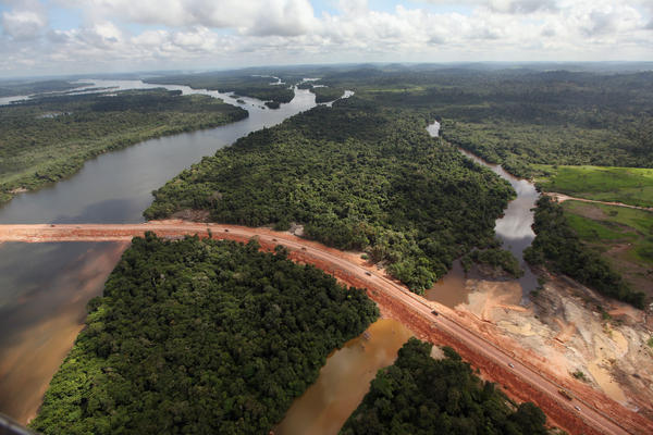 Construction continued at the Belo Monte dam complex in the Amazon basin near Altamira, Brazil, in June 2012. Belo Monte will be the world's third-largest hydroelectric project, and will displace up to 20,000 people living near the Xingu River.