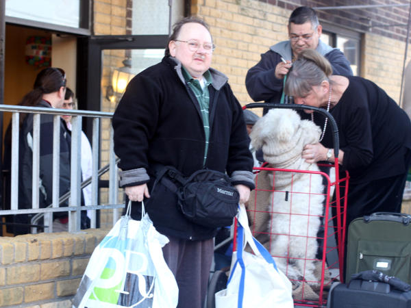 Bob Rosenberg was among several residents pleased to be back at Belle Harbor Manor — but nervous about possible losses to looters and cleanup workers.