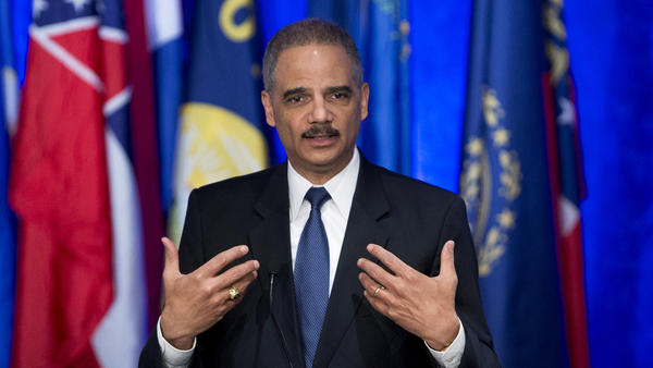 Attorney General Eric Holder speaks before a meeting of the National Association of Attorneys General on Tuesday.
