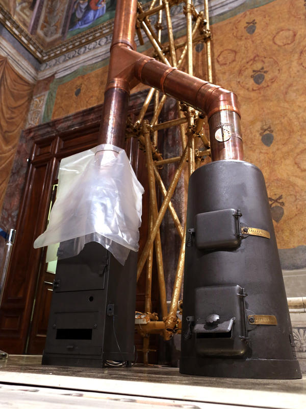 The stoves installed inside the Sistine Chapel will be used to burn ballots after they are tallied as well as signal to outside world, via black or white smoke, whether or not a new pope has been elected.