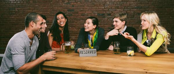 Grouper, an online dating service, uses social media to connect people interested in blind dates to create six-person outings.