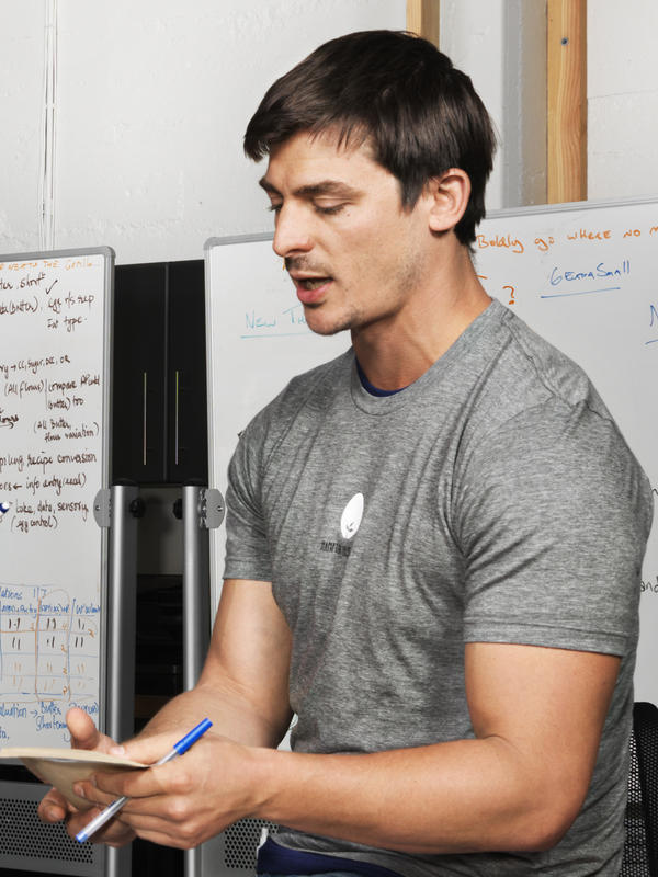 Hampton Creek founder Josh Tetrick is hot on the trail of the chicken-less egg.