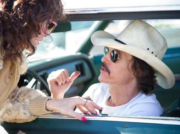 McConaughey in a scene from <em>Dallas Buyers Club</em>. The actor lost 38 pounds to play the physically wasting Woodroof.